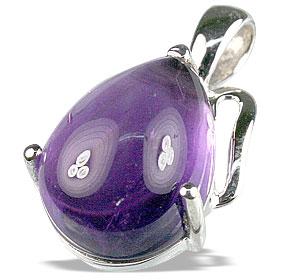 Design 13461: purple amethyst drop pendants