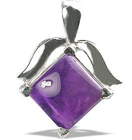 Design 13468: purple amethyst pendants