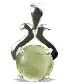 Design 13473: yellow lemon quartz pendants