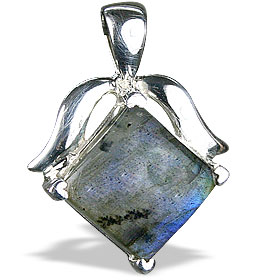 Design 13478: green,gray labradorite pendants