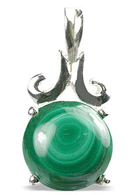 Design 13489: green malachite pendants