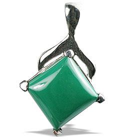 Design 13491: green malachite pendants