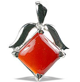 Design 13495: orange,red carnelian pendants