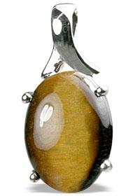 Design 13508: brown,yellow tiger eye pendants