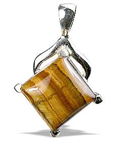 Design 13510: brown,yellow tiger eye pendants