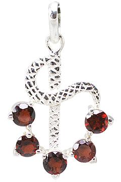 Design 13527: red garnet pendants