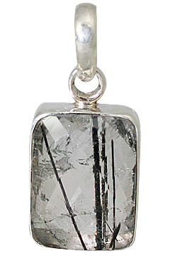Design 13532: gray rutilated quartz classic pendants