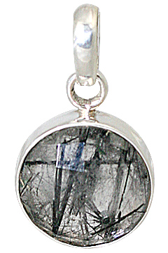 Design 13534: gray rutilated quartz pendants