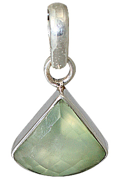 Design 13544: green prehnite pendants