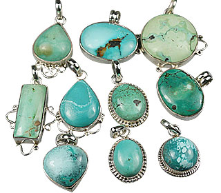 Design 13576: blue bulk lots pendants