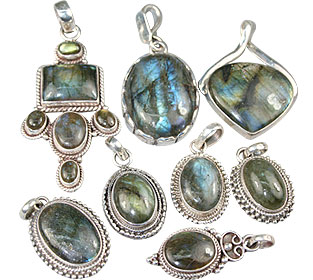Design 13609: blue,green,gray bulk lots pendants