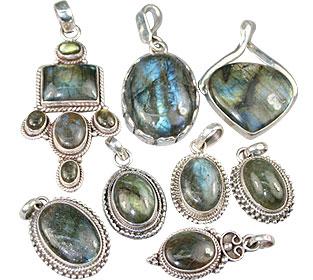 Design 13609: blue,green,gray bulk lots pendants