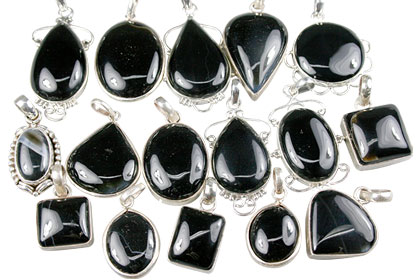 Design 13612: black bulk lots pendants