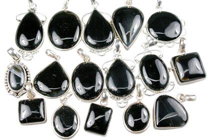 Design 13612: black bulk lots pendants