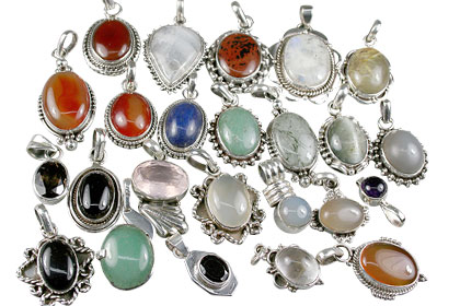 Design 13624: multi-color bulk lots pendants