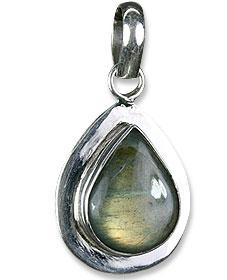 Design 13673: green,gray labradorite drop pendants