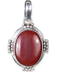 Design 13676: red onyx pendants