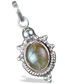 Design 13679: green,gray labradorite pendants