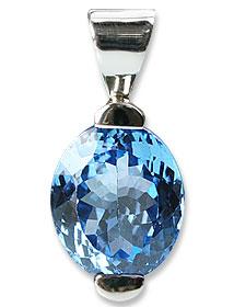 Design 13682: blue blue topaz engagement pendants