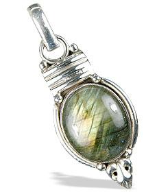 Design 13684: gray labradorite pendants