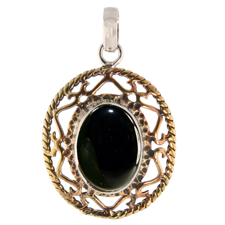 Design 13717: black onyx contemporary pendants