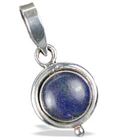 Design 13723: blue lapis lazuli mini pendants