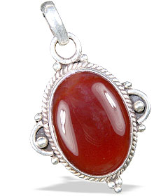 Design 13724: red onyx contemporary pendants