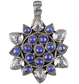 Design 13726: blue lapis lazuli ethnic pendants