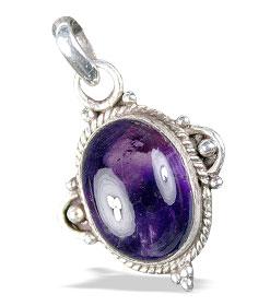 Design 13728: black,purple amethyst charms, contemporary pendants