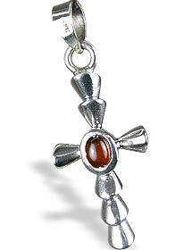 Design 13729: red garnet cross pendants