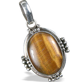 Design 13730: black,brown,yellow tiger eye american-southwest pendants