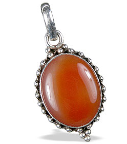 Design 13737: orange agate american-southwest pendants