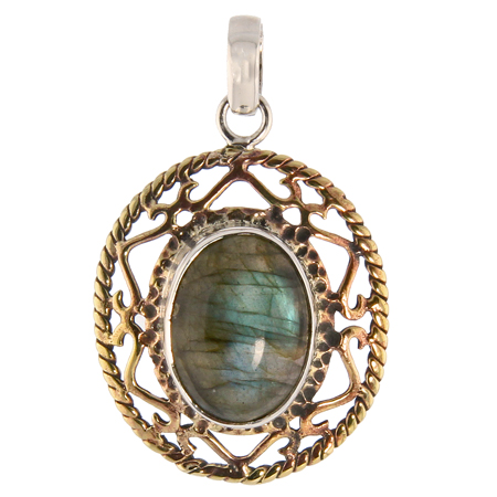 Design 13738: purple labradorite cross pendants