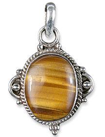 Design 13739: black,brown tiger eye american-southwest pendants