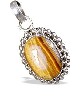 Design 13743: black,brown,yellow tiger eye contemporary pendants