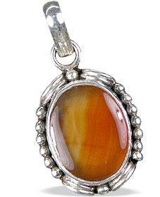 Design 13744: orange,red onyx pendants