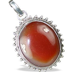 Design 13745: orange onyx american-southwest pendants