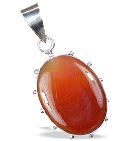 Design 13747: orange,red onyx american-southwest pendants