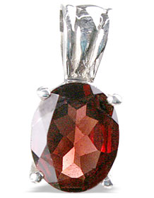 Design 13763: red garnet mini pendants