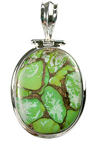 Design 13767: green mohave american-southwest pendants
