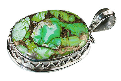 Design 13768: green mohave american-southwest pendants