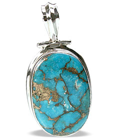Design 13769: blue mohave american-southwest pendants