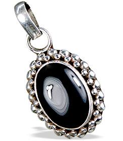 Design 13777: black onyx american-southwest pendants