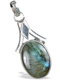 Design 13780: blue,brown,green labradorite contemporary pendants