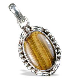 Design 13781: brown,yellow tiger eye american-southwest pendants