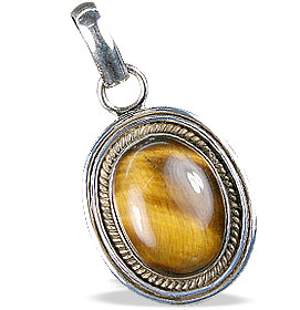 Design 13782: black,brown,yellow tiger eye pendants