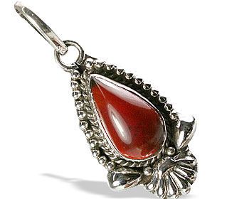 Design 13786: orange agate drop pendants