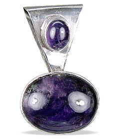 Design 13797: purple amethyst classic pendants