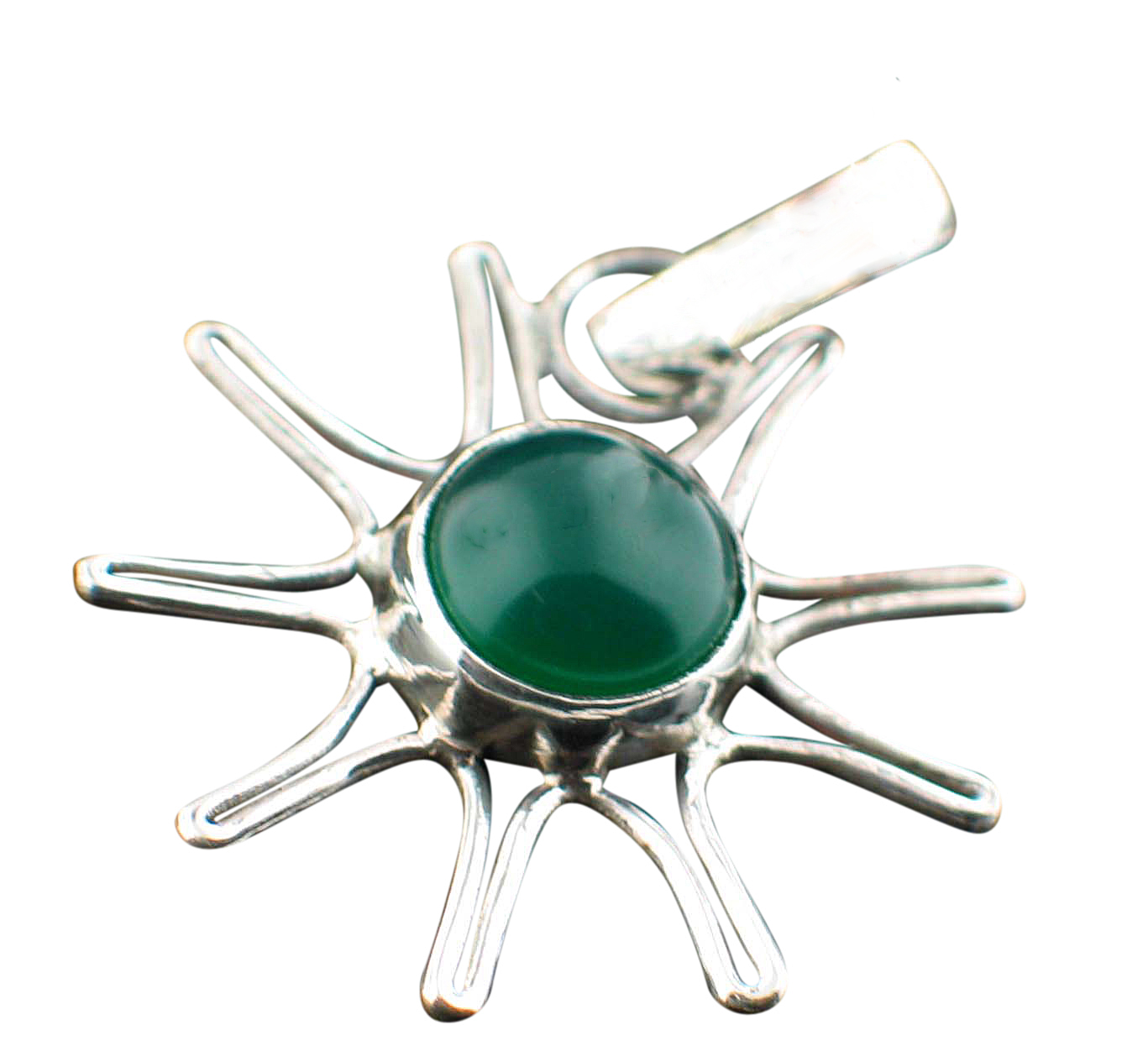 Design 13800: green,purple onyx classic pendants