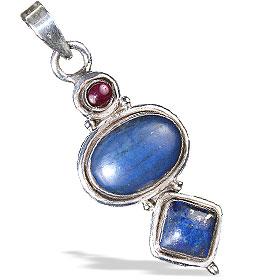 Design 13803: blue,purple lapis lazuli american-southwest pendants
